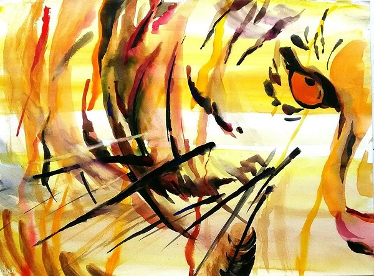 The Last Sumatran Tiger, 56x76cm karya Baskoro Sardadi