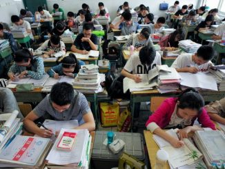 Ilustrasi: Para pelajar di Tiongkok mengikuti ujian Gaokao. (Ist.)