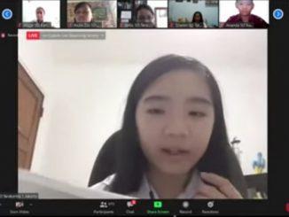 """Audrey dari SD Tarakanita 1 dalam program #PakMenteriMengajar SD Tarakanita yang diselenggarakan oleh Yayasan Tarakanita bertema """"Belajar Online untuk Masa Depan yang Lebih Baik"""" pada Jumat, 22 Mei 2020"""