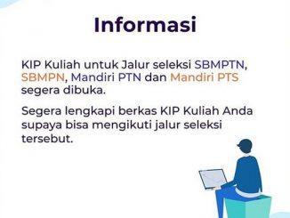Pengumuman di akun resmi Instagram KIP Kuliah @kipkuliah.kemdikbud pada pada Kamis, 14 Mei 2020