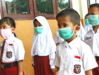 Ilustrasi: Para murid SD mengenakan masker. (Ist.)