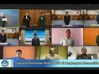 Pelantikan Husain Syam sebagai Rektor Universitas Negeri Makassar (UNM), Agung Damar Syakti sebagai Rektor Universitas Maritim Raja Ali Haji (UMRAH) dan Meky Sagrim sebagai Rektor Universitas Papua (Unipa)