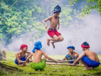 Ilustrasi: Permainan tradisional untuk mengenalkan nilai-nilai Pancasila. (Ist.)