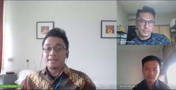 """Sharing Session yang diinisiasi oleh Nuffic Neso Indonesia bertajuk """"Generalist vs. Specialist: Which Path for Your Study in the Netherlands?"""" dengan moderator Education Promotion Officer Nuffic Neso Indonesia, Mohamad Maulana Taufik pada Jumat, 22 Mei 2020"""