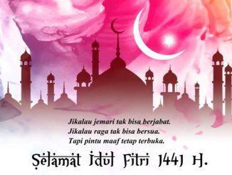 Ilustrasi: Ucapan Selamat Idul Fitri 1441 H. (repro: y.prayogo/KalderaNews.com)
