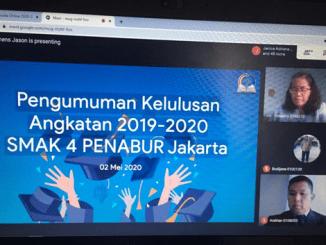 Wisuda SMAK 4 PENABUR Jakarta yang dilakukan secara virtual (Dok. SMAK 4 PENABUR Jakarta)