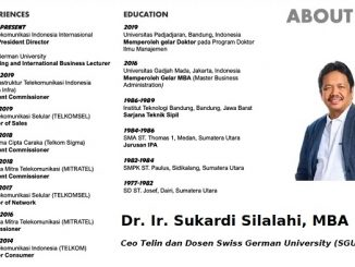 Ceo Telin dan Dosen Swiss German University (SGU), Dr. Ir. Sukardi Silalahi, MBA