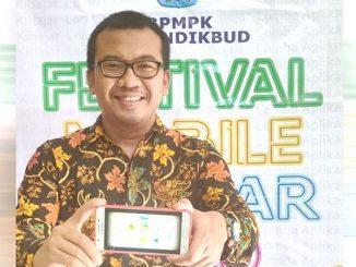 Hendrik Hermawan raih jura pertama Lomba Aplikasi Mobile Ki Hajar 2020. (Ist.)