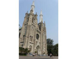 Ilustrasi: Katedral Santa Perawan Maria Diangkat ke Surga Jakarta. (KalderaNews.com/ Y. Prayogo)