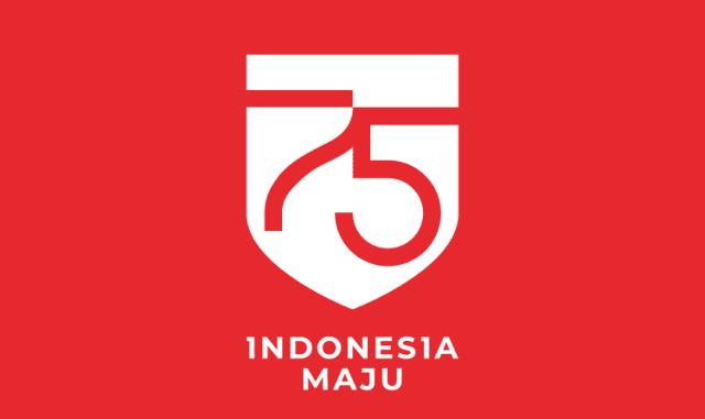 Logo peringatan Kemerdekaan RI ke-75. (setneg.go.id)