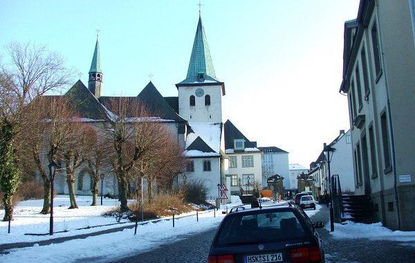 Musim Dingin di Jerman dengan hamparan salju