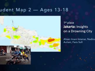 "Pengumuman pelajar SMA Al-Jabr School Jakarta yang terdiri atas Ahsan Imam Istamar, Nadira Nuri Auliani dan Faris Sofi kompetisi teknologi geospasial dunia ""Esri Map Gallery"" yang berlangsung di California, Amerika Serikat pada 13-16 Juli 2020"