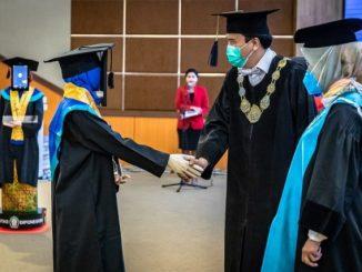 Robot wisuda Universitas Diponegoro Semarang. (Ist.)
