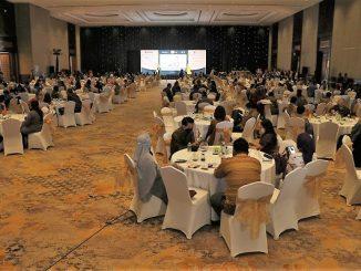 TOP CSR Awards 2020 dihelat dengan mengikuti protokol kesehatan Covid-19 di Sultan Hotel Jakarta, Rabu, 29 Juli 2020