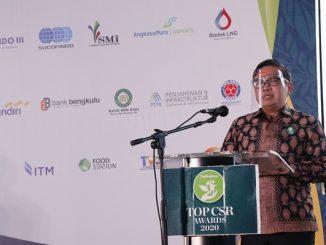 Wakil Menteri Lingkungan Hidup dan Kehutanan (Wamen LHK), Alue Dohongmmenjadi pembicara kunci TOP CSR Awards 2020 di Sultan Hotel Jakarta, Rabu, 29 Juli 2020
