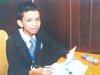 Yafi Amri, siswa Madrasah Aliyah Negeri 1 Pekanbaru (MAN 1 Pekanbaru) yang berhasil meraih juara dalam ajang International Award Astonomy and Astrophysics Competition (IAAC) Edition of 2020. (Ist.)