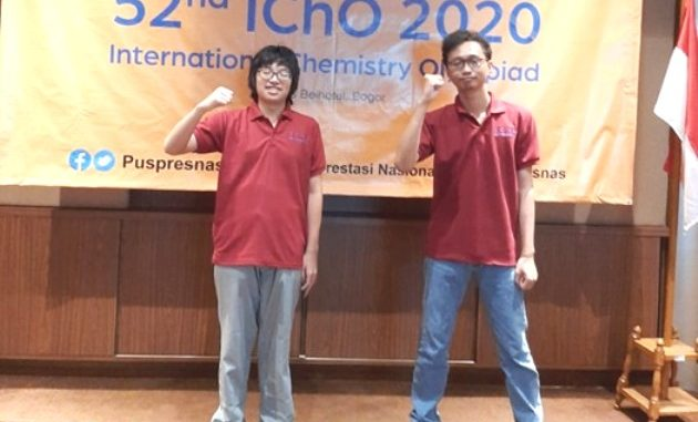 Dua siswa yang mewakili Indonesia dalam ajang 52nd International Chemistry Olympiad (IChO) 2020. (Ist.)