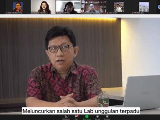 Dekan FKIK Unika Atma Jaya, Dr. dr. Yuda Turana, Sp.S saat peluncuran Laboratorium Covid-19 dan Laboratorium Farmakogenomik secara virtual di Jakarta, Jumat, 7 Agustus 2020