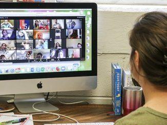 Ilustrasi guru mengajar daring untuk pembelajaran jarak jauh selama pandemi Covid-19 (KalderaNews/Ist)