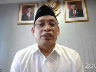 Ketua Tim Pelaksana LTMPT Mohammad Nasih saat konferensi pers, Jumat, 14 Agustus 2020.