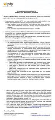 Tanggapan dan Klarifikasi Resmi LPDP Terkait Veronica Koman Liau (VKL)