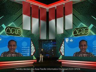 Menteri Pendidikan dan Kebudayaan (Mendikbud), Nadiem Anwar Makarim membuka kompetisi APIO 2020 secara daring di Kota Tangerang, Provinsi Banten pada Jumat pekan ini, 14 Agustus 2020