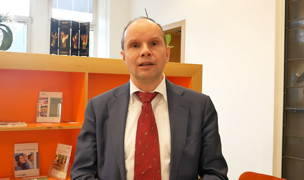 Manager/Member of the Board Nuffic, Han Dommers di Kantor Nuffic, Den Haag, Belanda, Senin, 19 November 2018