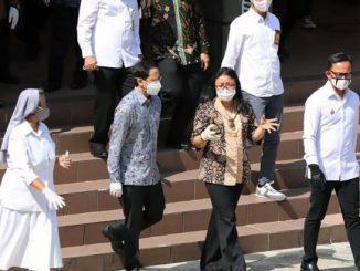Mendikbud Nadiem Makarim mengunjungi Sekolah Regina Pacis Bogor. (Dok. Regina Pacis Bogor)