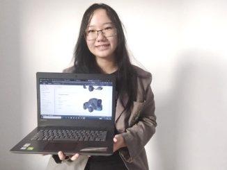Nathania Saphira, mahasiswi Program Studi (Prodi) Informatika Universitas Kristen Duta Wacana (UKDW) Yogyakarta berhasil memenangkan AWS DeepRacer Women's League Indonesia. (Dok. UKDW)