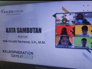 Pada Senin hingga Kamis (24-27/08) Kalbis Insitute gelar ospek daring untuk pertama kalinya. (KalderaNews/ Dok. Kalbis Institute)