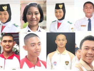 Ilustrasi: Wajah 8 Paskibraka 2019 yang akan kembali bertugas dalam upacara bendera detik-detik peringatan Kemerdekaan RI ke-75 di Istana Negara Jakarta. (repro: KalderaNews.com/y.prayogo)