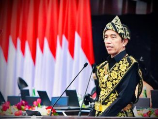 Presiden Joko Widodo menyampaikan pidato dalam Sidang Tahunan MPR RI. (Dok.Setneg)
