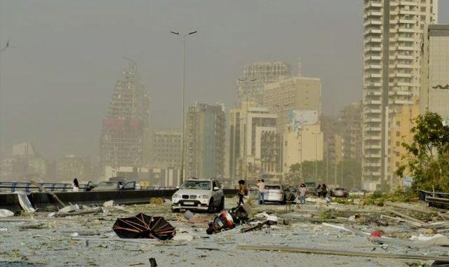 Salah satu sudut kota Beirut, Lebanon, pasca ledakan. (Ist.)