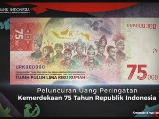 Uang Peringatan Kemerdekaan atau UPK 75 tahun Republik Indonesia