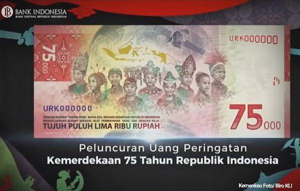 Direncanakan Sejak 2018 Lalu, Ini Lho Uang Kertas 75 Ribu ...