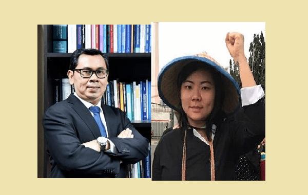 Staf Khusus Menteri Keuangan (Menkeu) Sri Mulyani Indrawati di Bidang Komunikasi Strategis, Yustinus Prastowo dan aktivis HAM Papua, Veronica Koman Liau