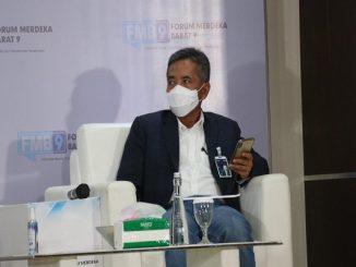 "Direktur Bisnis Mikro BRI, Supari pada tajuk diskusi ""Bantuan UMKM, Efektifkah?"" (4/9) (KalderaNews/ Dok. Kominfo)"