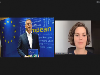 "Uni Eropa-Indonesia baru saja meluncurkan publikasi bertajuk ""EU-Indonesia Cooperation Publication 2020"" yang fokus kepada Ekonomi Hijau Berkelanjutan pada Kamis (17/9) secara virtual. Diskusi tersebut juga membahas perkembangan kerja sama Uni Eropa-Indonesia dalam menangani pandemi Covid-19 (KalderaNews/ Syasa Halima)."