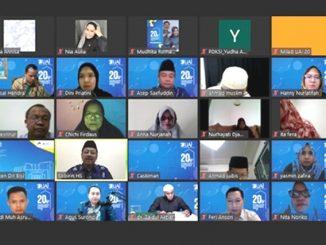 Milad Universitas Al Azhar Indonesia (UAI) ke-20 dirayakan secara virtual. (KalderaNews.com/Dok.UAI)