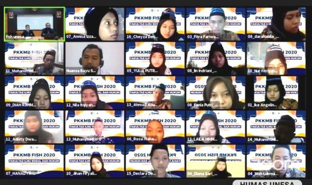 Ilustrasi: PKKMB 2020 Universitas Negeri Surabaya. (KalderaNews.com/Dok. Unesa)