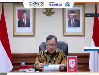 Kemenristek/BRIN yakni Prof. Bambang Permadi Soemantri Brodjonegoro, PhD paparkan tren bisnis digital saat pandemi Covid-19 dan prospeknya di masa depan sebagai Less Contact Economy (Syasa Halima/ KalderaNews)
