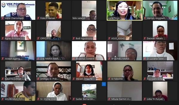 "webinar bertema ""Mendidik dengan Serba Daring yang Tidak Bikin Darting (Darah Tinggi); Dampak Psikologis dan Rohani"" yang diselenggarakan Dewan Pimpinan Daerah (DPD) Vox Point Indonesia Jawa Tengah dan Dewan Pimpinan Wilayah (DPW) Vox Point Indonesia Kota Semarang pada Minggu, 13 September 2020"