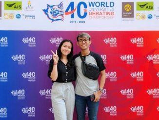 Delegasi Indonesia di World University Debate Championship (WUDC) 2020 in Bangkok on 27 December 2019-4 January 2020
