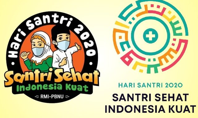 Dua logo Hari Santri Nasional 2020. (KalderaNews.com/repro: y.prayogo)