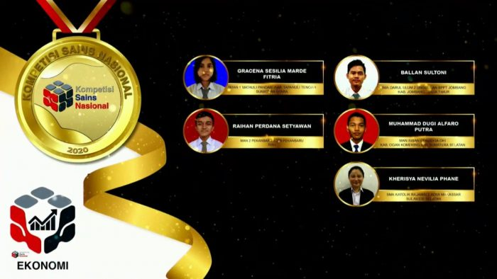Para pemenang peraih medali emas KSN jenjang SMA Bidang Ekonomi 2020