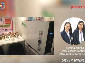 Ilustrasi: Faustina Ameliadan Imanuellenfa Tantiara pelajar SMA Glory Regina Pacis Bogor meraih medali perak melalui invensi Nanoextractor, di kategori Food and Agriculture. (KalderaNews.com/Ist.)