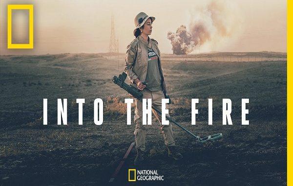 Poster Film Dokumenter Into The Fire (KalderaNews/Dok.Nobel)