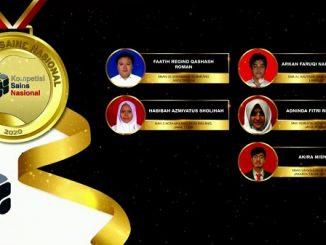 Para pemenang peraih medali emas KSN jenjang SMA Bidang Kimia 2020