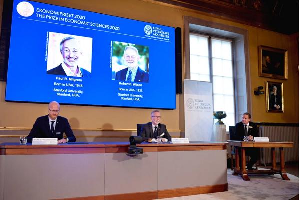 Pengumuman Paul R. Milgrom dan Robert B. Wilson yang dianugerahi Nobel Ekonomi 2020