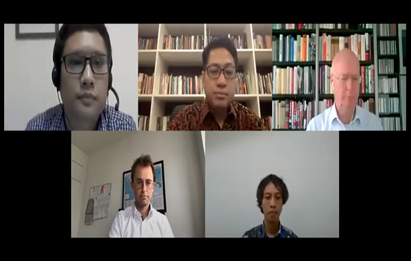 Pembicara pada konferensi pers Science Film Festival. Festival Film Sains ini digelar virtual di 24 kota di Indonesia (KalderaNews/Syasa Halima)